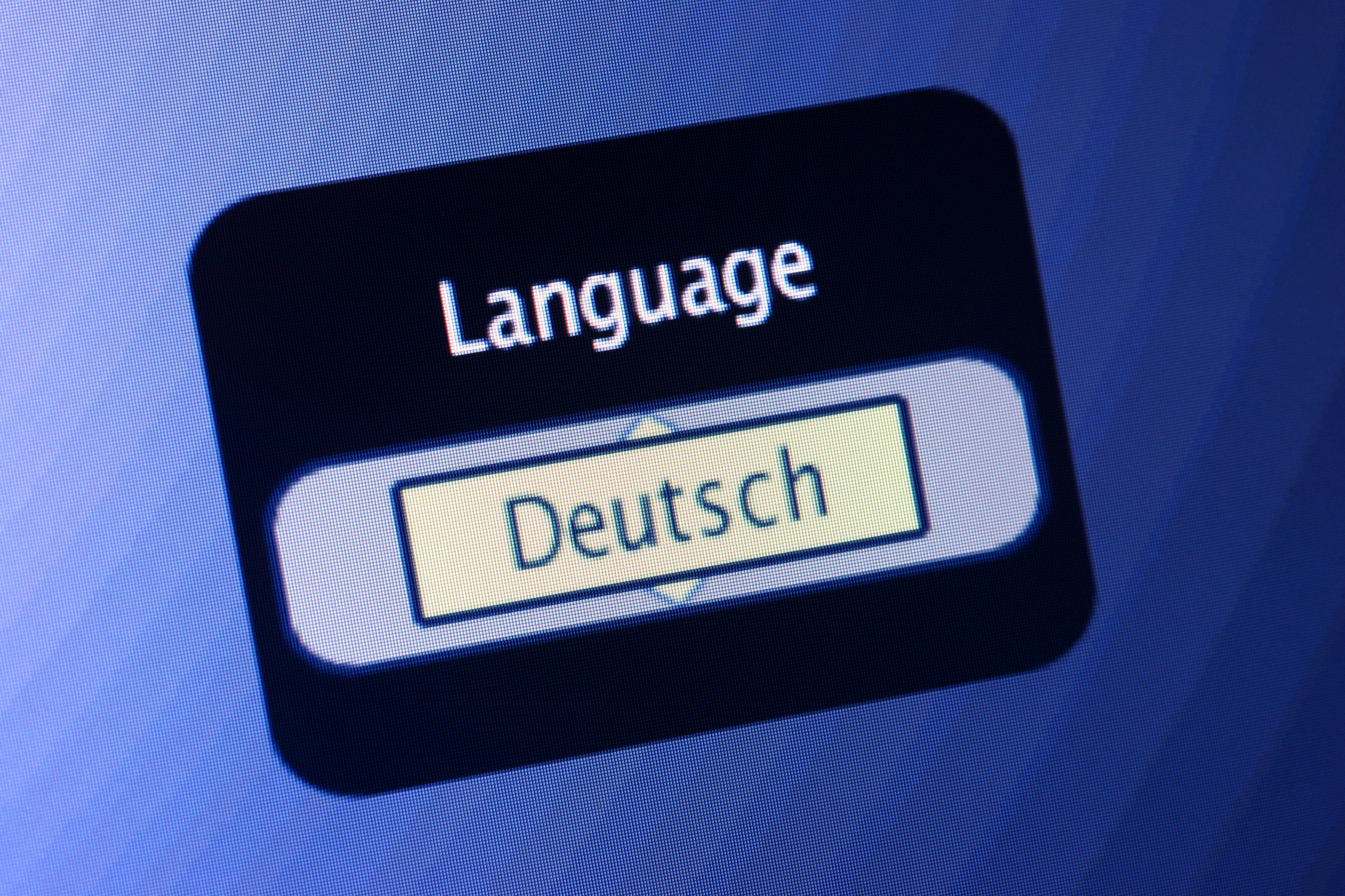 German_language selected