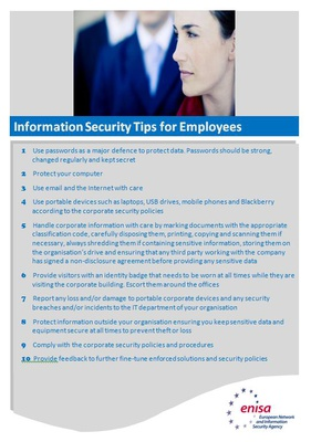 Information security tips for employees
