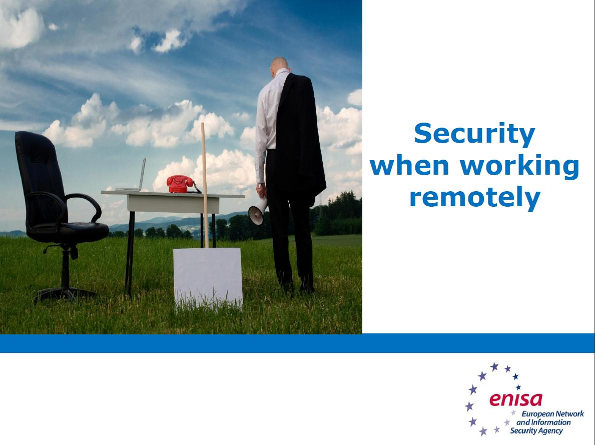 Security when working remotely: Training material