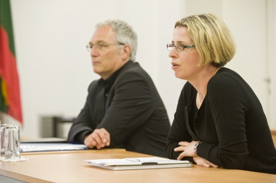 The ENISA Management Board Chair (2011-2013) Mrs Herranen and the Executive Director, Prof. Helmbrecht
