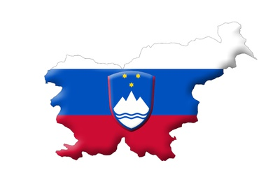Slovenian map and flag