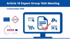 16th Meeting of Article 19 Expert Group: Strengthening Security for e-Trust Services
