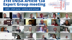 Article 13a Expert Group convened by ENISA for its 31st meeting