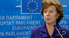 Cyber security: EU Commissioner Neelie Kroes' first visit to new ENISA office in Athens