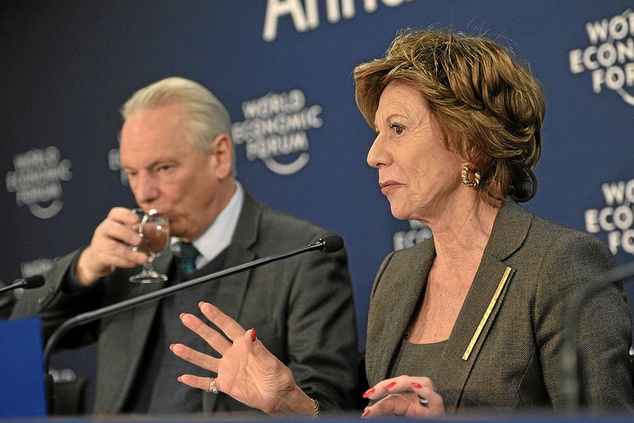 Davos: Commissioner and VP Kroes; speech on the forthcoming Cybersecurity Strategy for the EU -mentions ENISA
