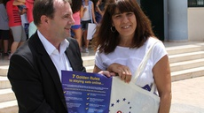 ENISA poster campaign with children of Heraklion