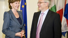 European Commission Vice President Kroes; 1st visit to ENISA