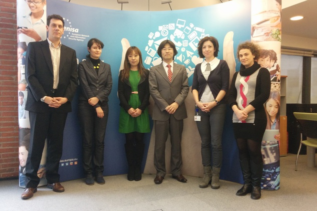 Japanese researchers from NTT visit ENISA