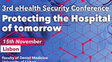 Save the Date! 3rd ehealth Security Conference,15 November, Lisbon