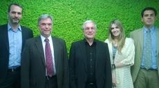 Udo Helmbrecht meets MEP Ms Kaili, Mr Tzortzis, and new MB member Mr Vatikiotis