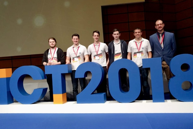 Winners of ECSC 2018 attend ICT Exhibition